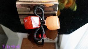 Aznavour同款亚克力醋酸板材 方块韩国糖果色发圈