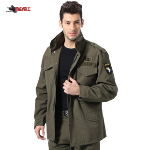 Free knight outdoor military fans Airborne Division M65 windbreaker jacket removable liner piece Tactical clothing