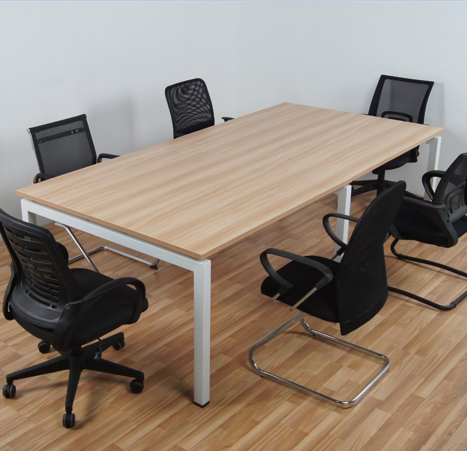 上海楷博板式會議桌椅簡約 會客桌條形洽談桌辦公電腦桌