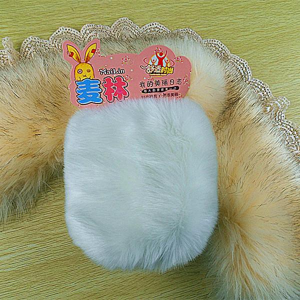 包邮春冬季新款脚手袖套 时尚毛绒大号仿兔毛脚套 女靴套办公套袖