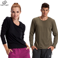 Agent billiton outdoor leisure render long sleeve T-shirt male Lycra cotton round collar underwear warm long female quality goods