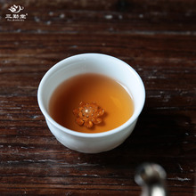 Kung fu tea cups sample tea cup three frequently hall jingdezhen ceramic kung fu tea tea whitebait, celadon hand