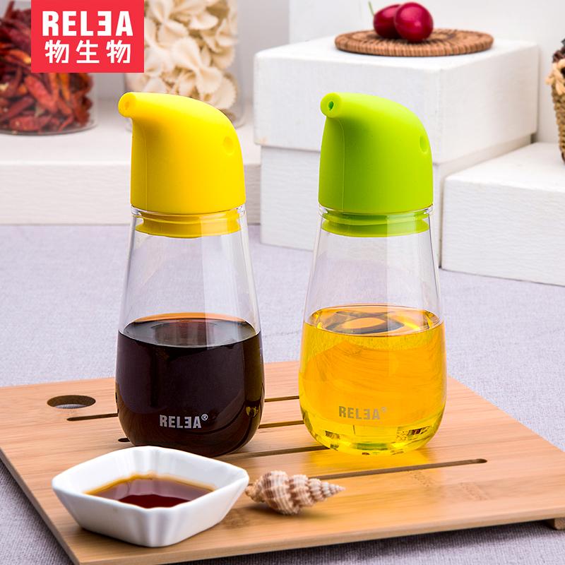 ~天貓超市~物生物企鵝油壺玻璃耐腐蝕油瓶防漏瓶顏色 220ml