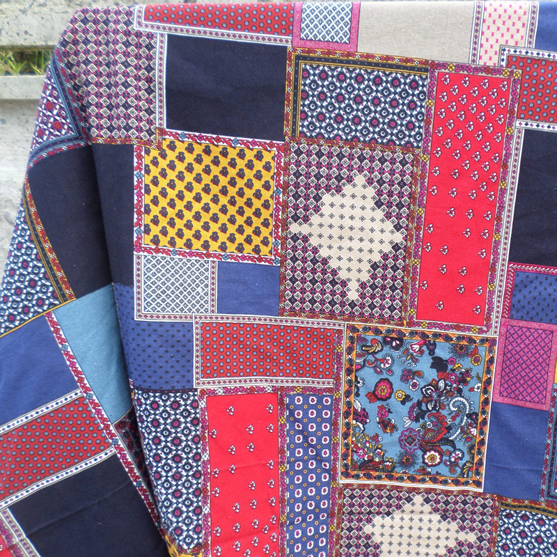 Японские лоскутное ткани хлопчатобумажные, льняные ткани DIY ручной работы страны занавес ткани стены оптом Дихроичные