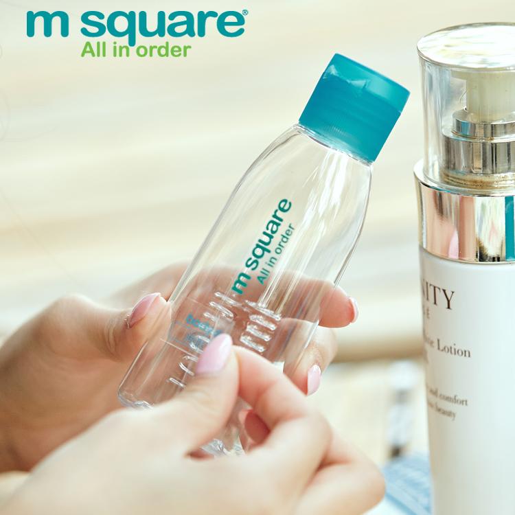 M square透明乳液分装瓶化妆品旅行收纳瓶套装洗发水沐浴露喷雾瓶
