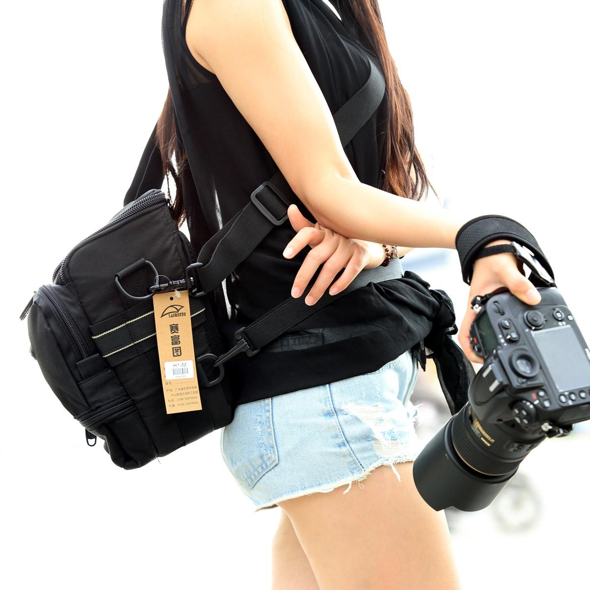 赛富图摄影三角胯包H1单肩斜背单反相机包便携防水佳能5D4 70-200