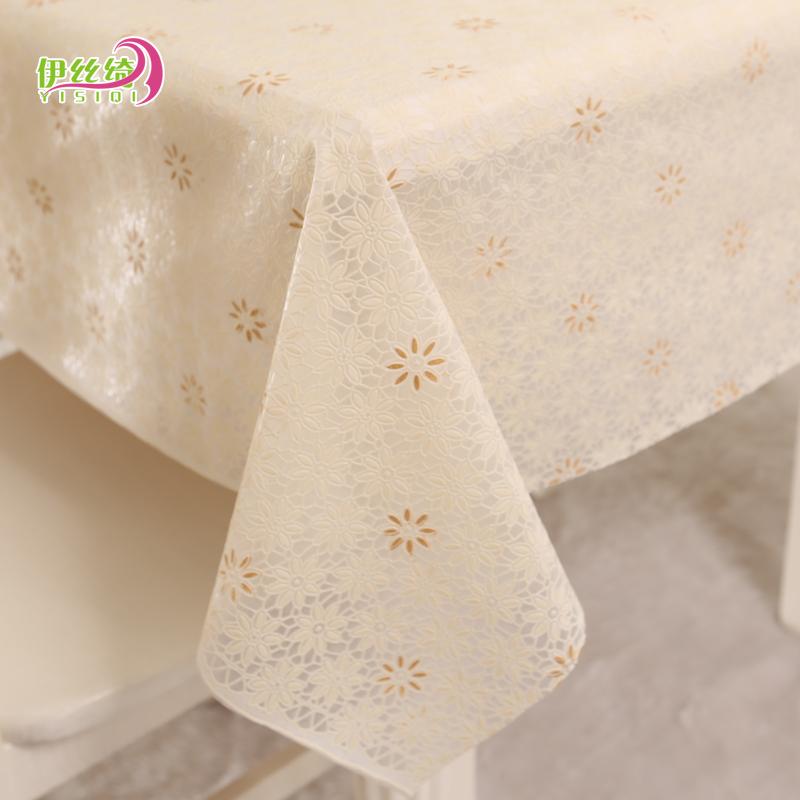 Обычай PVC континентальный сельская местность скатерть водонепроницаемый одноразовый пластик ткань обеденный стол ткань скатерть масло стол подушка кофейный столик подушка