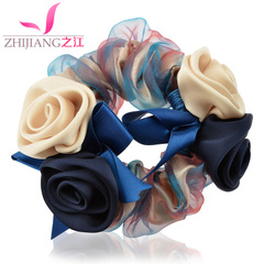 Ring jewelry Korea tie string flowers issuing Korean hair band hair clip ponytail hair rope capitatum