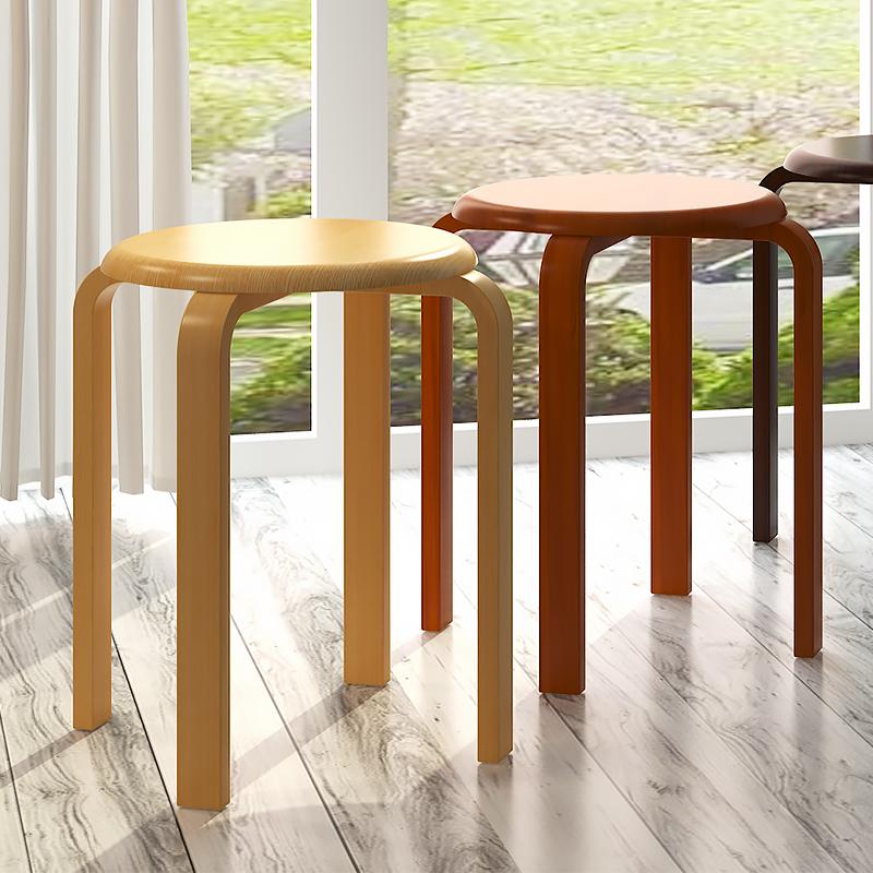 歐意朗凳子實木凳圓凳 板凳餐桌凳 木頭椅子 家用矮凳