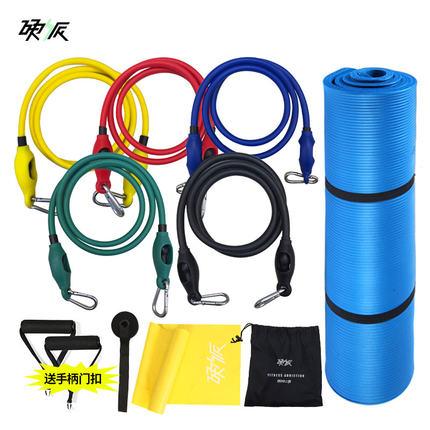硬派 拉力绳健身男力量训练家用健身器材弹力带弹力绳减肥拉力器