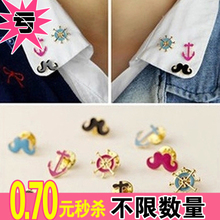 HL14806 Korea accessories wholesale Personality fashion Hu Zitie anchor anchor pin neckties clip
