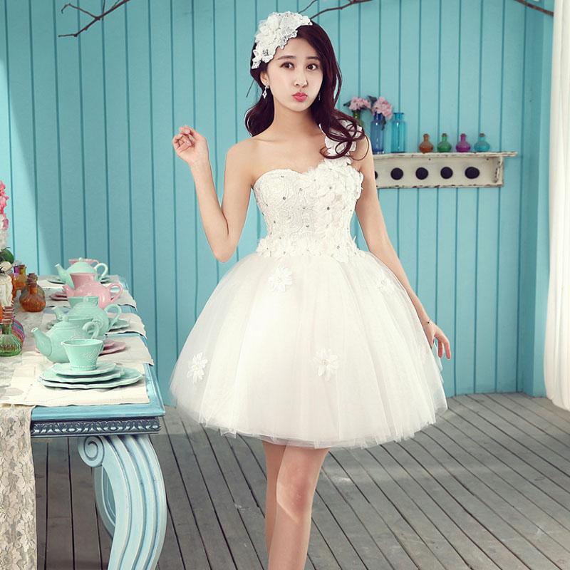 伴娘短款小禮服裙 新娘結婚婚紗晚禮服 蕾絲敬酒服伴娘服晚宴