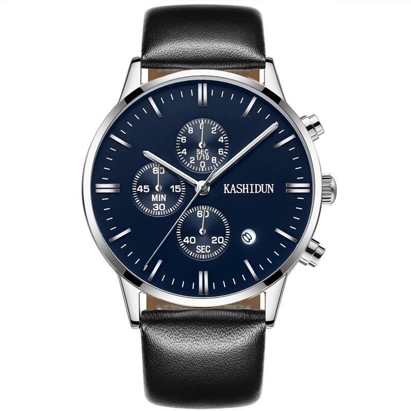 卡詩頓正品石英手表男表皮帶腕表防水非機械商務男士學生鋼帶手表