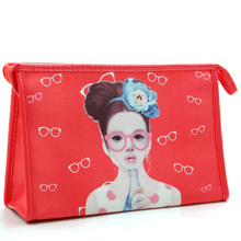 Lovely han edition ms cosmetic bag travel wash gargle bag Cosmetics receive bag cartoon girls hand bag