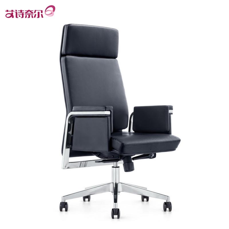 高端真皮老板椅升降电脑办公椅进口头层牛皮大班椅简约主管椅子