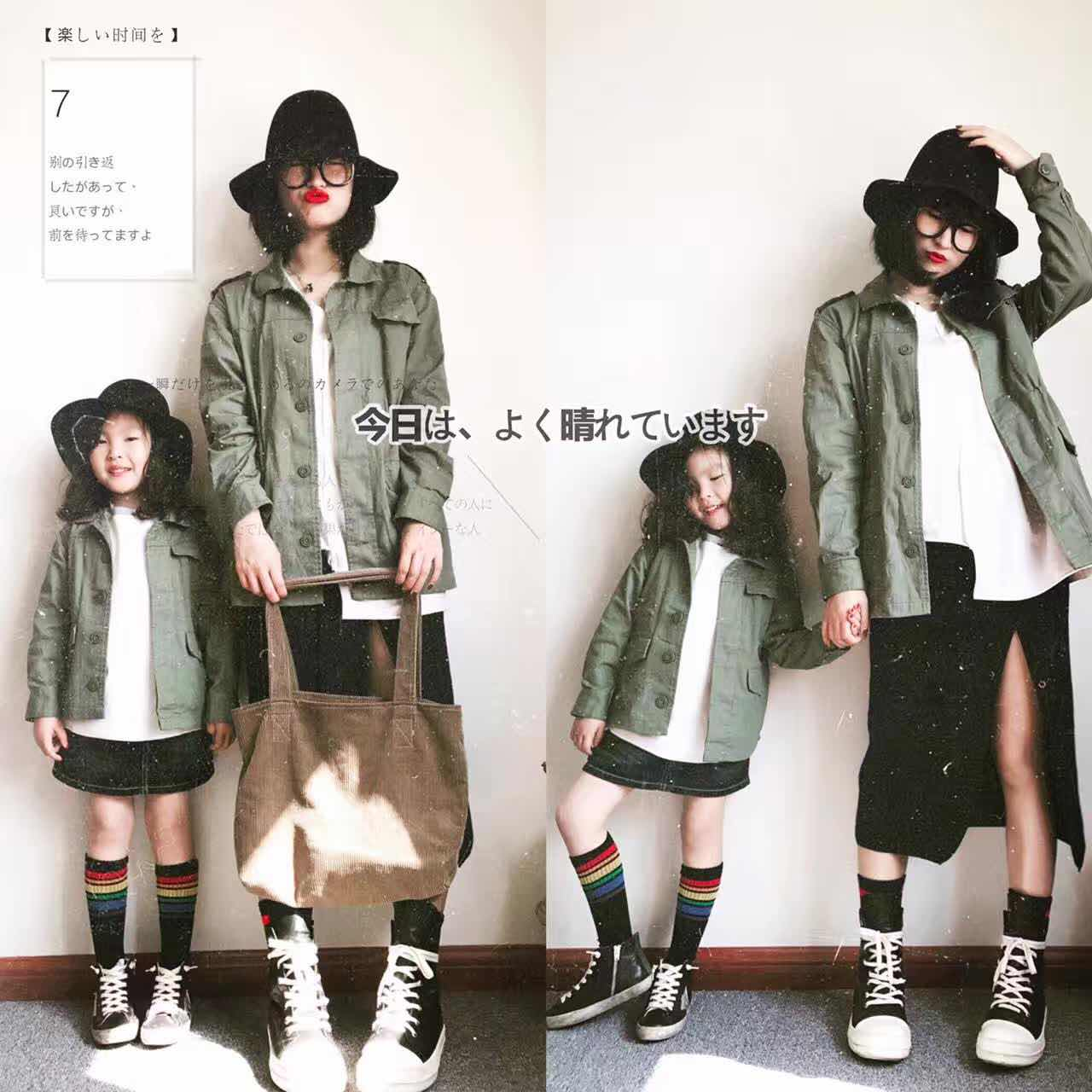 LolipopKidz  独家定制 日本热卖 亲子 有型工装衬衫外套 面料软