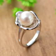 Thai female Korean fashion ladies ring 925 Silver natural Pearl ring, Japan and Korea