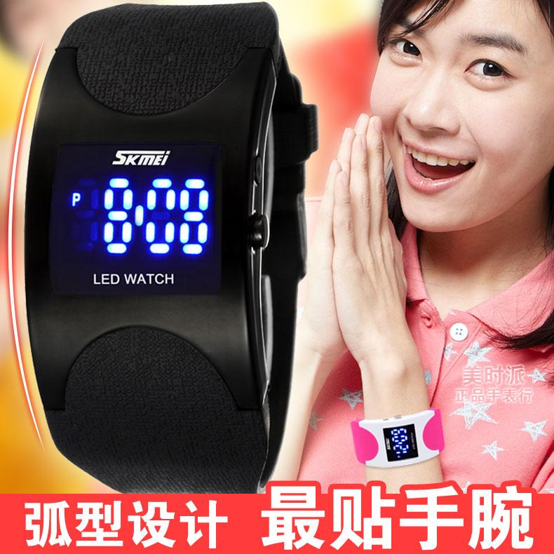 Мода водонепроницаемые Цифровые Часы Часы студенток нынешних студентов мужского Кореи дети мальчики девочки Мужские часы Женская форма