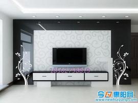 定做电视餐厅背景墙饰烤漆钢化艺术玻璃桌面钢化对称 黑底白图