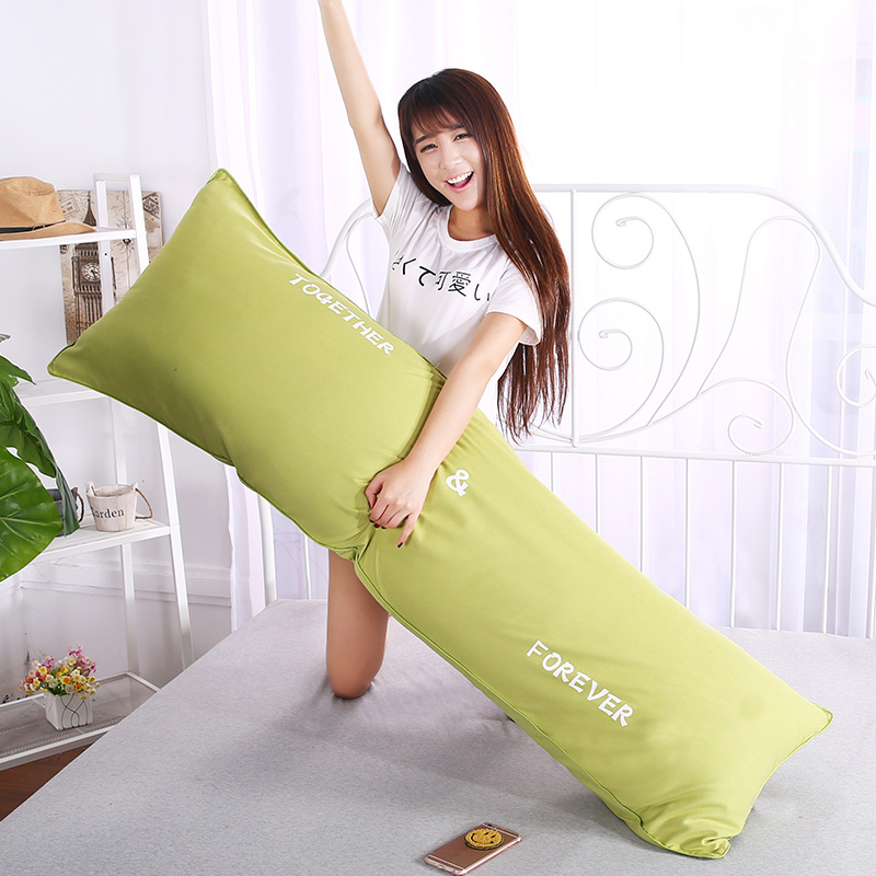 卡沃1.2m水洗双人枕1.5长枕头1.8米护颈情侣长枕芯成人枕头枕套