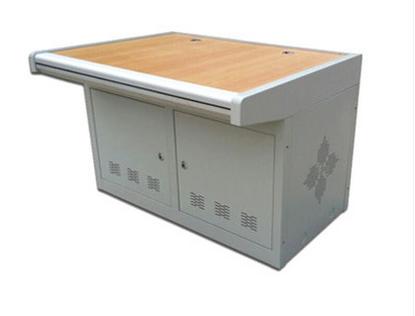 双联铝合金扶手平台 监控操作台 监控机柜 操作台 机柜