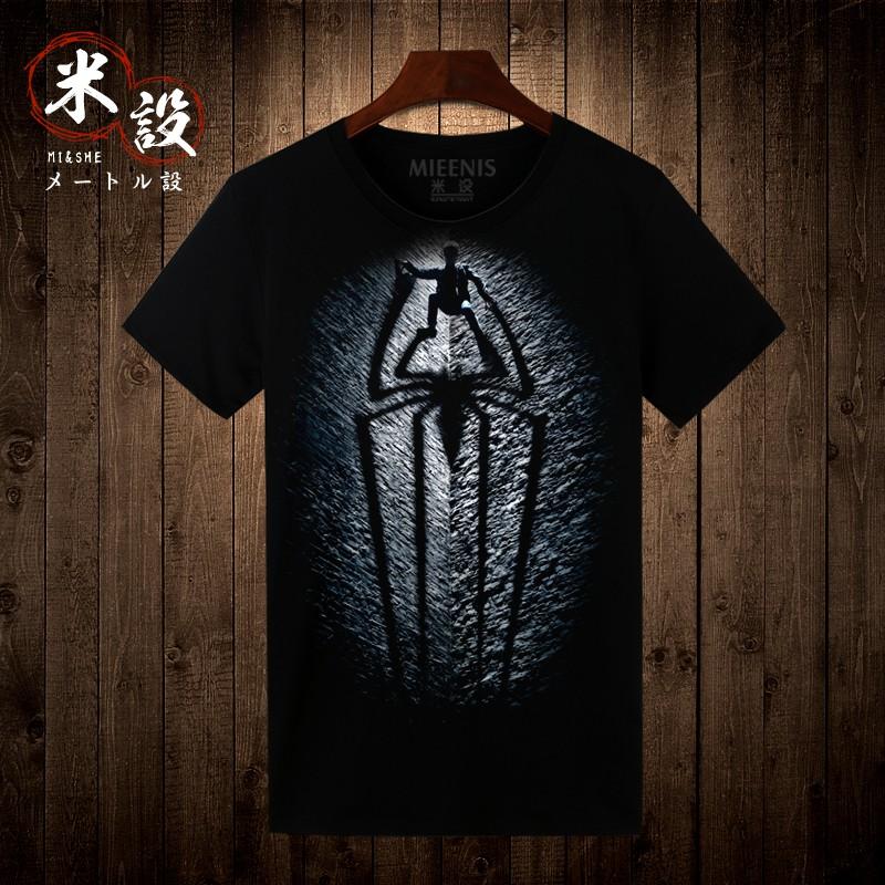 蜘蛛侠T恤男潮韩版t恤短袖男夏装男学生圆领短袖t-shirt体恤