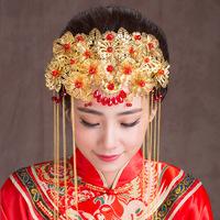 2018 зимний новая коллекция Китайский костюм новый женщина свадебное Аксессуары для волос, дракон и феникс cheongsam show, одежда, головные уборы, украшение фотостудии