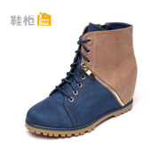 Shoebox shoe fall/winter 2014 high wedges high heels short boots in women's shoes and ankle boots 1114607121