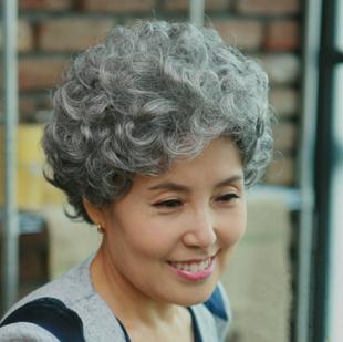 Почта пожилой универсальный старики бабушка серый парик женские короткие кудри этап реквизит производительность из старый слишком слишком