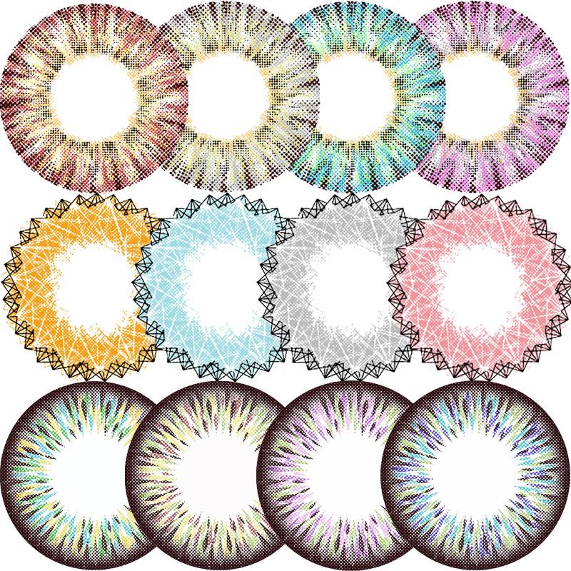 EYELOFER АИ Luofei большого диаметра линзы Лори Мяо СИДА богиня смешанных год бросали цветные контактные линзы мне