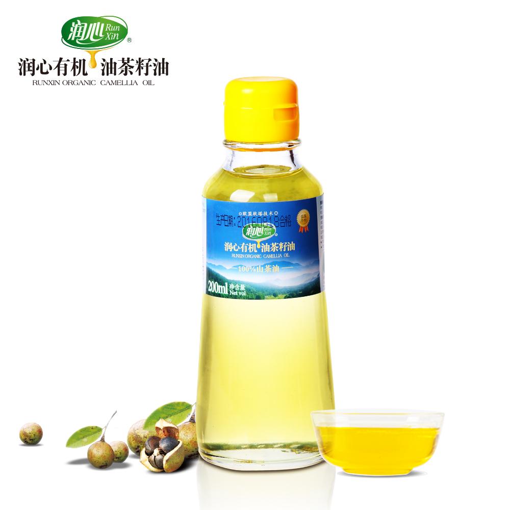 ~天貓超市~潤心山茶油有機油茶籽油200ml食用油 廚房調味油
