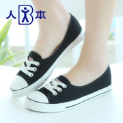 White men sneakers women summer shoes asakuchi with comfortable flat shoes casual shoes white nurse shoes