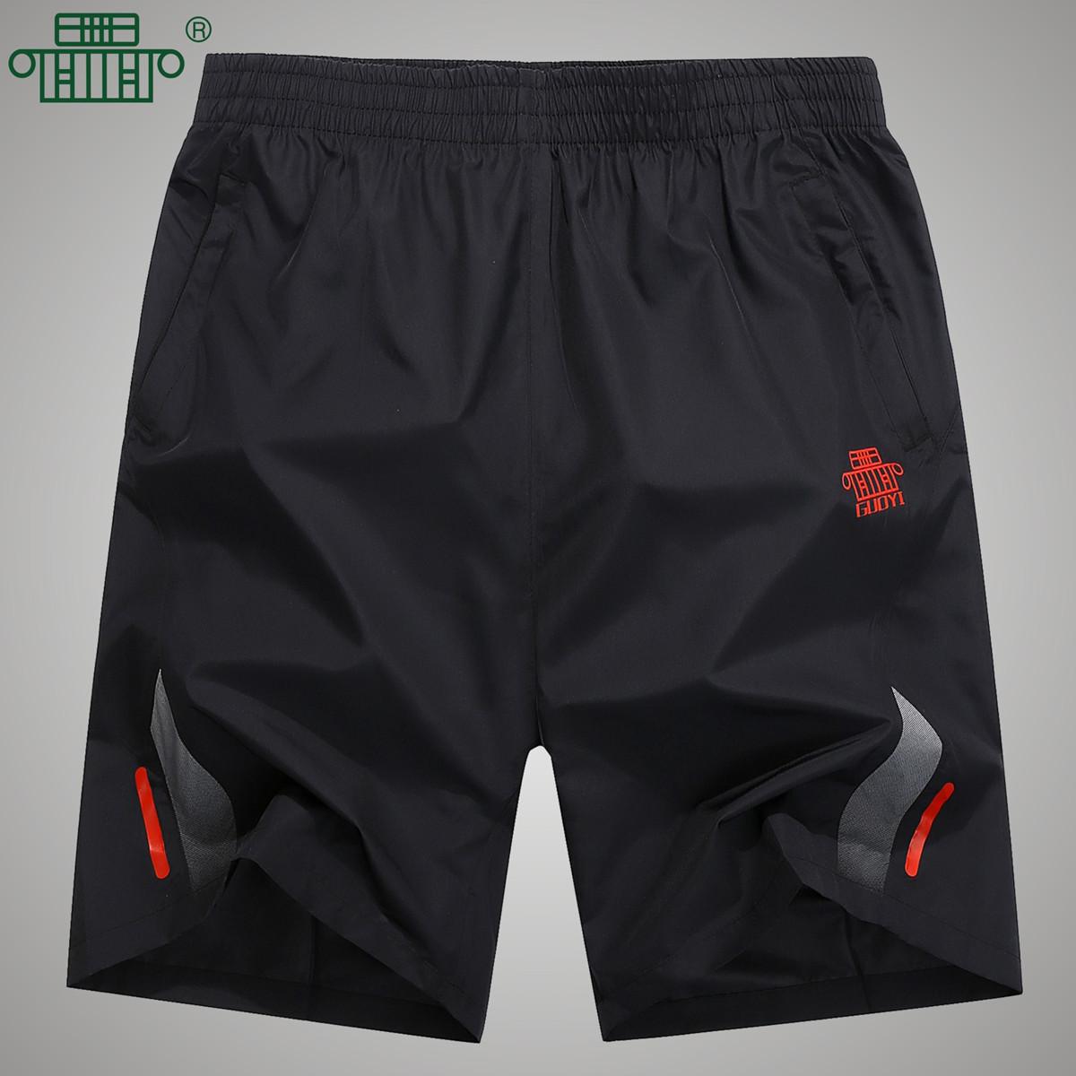 Движение шорты мужчина бег фитнес спортивные брюки кондиционер быстросохнущие шорты свободные большой размеров пять минут штаны обучение брюки