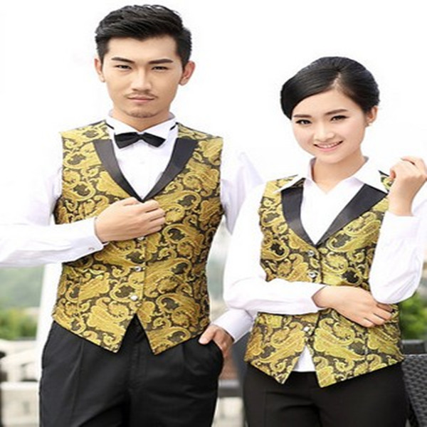 Hotel work clothes autumn and winter clothes high end hotel waiters and waiters vest KTV restaurant night show master vest