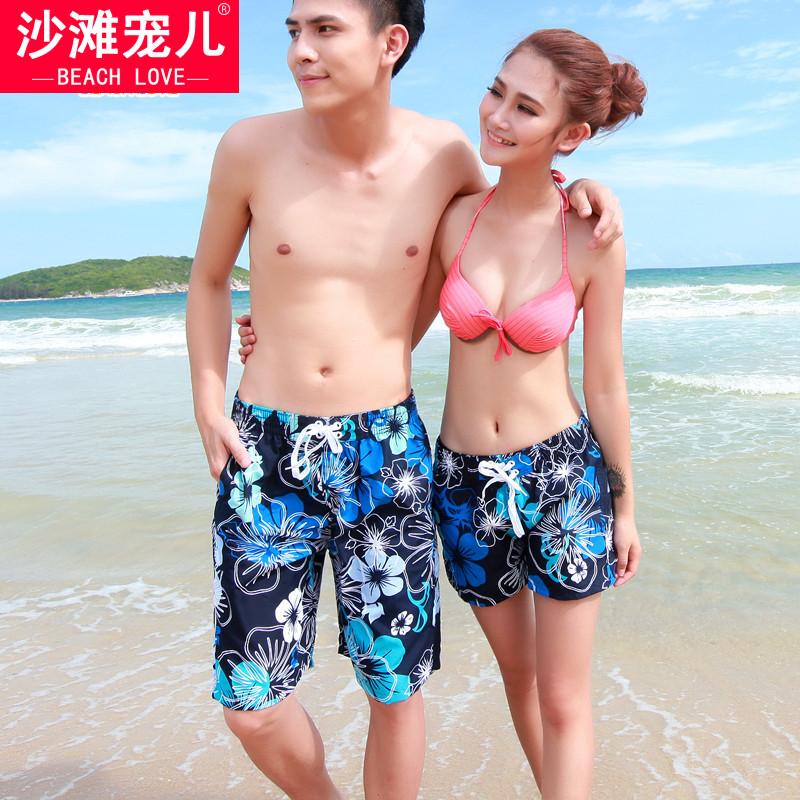 沙灘寵兒 正品沙灘褲情侶 潮人海灘 遊泳褲 大碼速幹衝浪熱褲