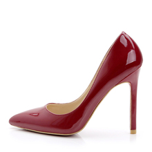 CL with nude female pointed yard of red shoes Star with wedding shoes Europe and the United States patent leather shoes banquet package mail