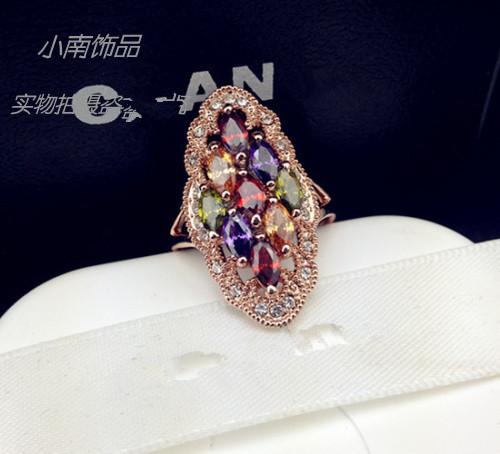 Пакет mail для Европы Европы большая Оптовая Корея преувеличенной милый клуб diamond кольца кольца женщин