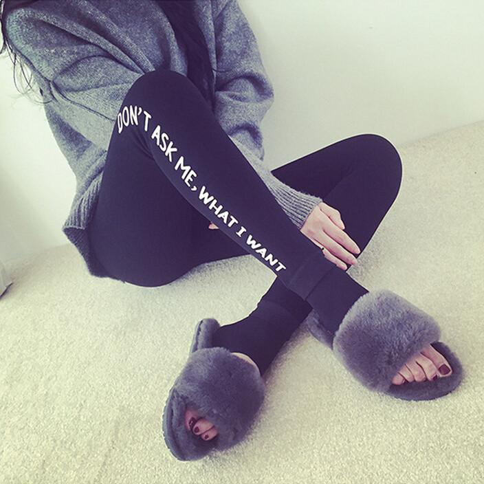 Корейская версия и кашемир носить осенью и зимой плюс размер мягкий мыс Колготки Леггинсы мужские персонажи из письма спортивные штаны