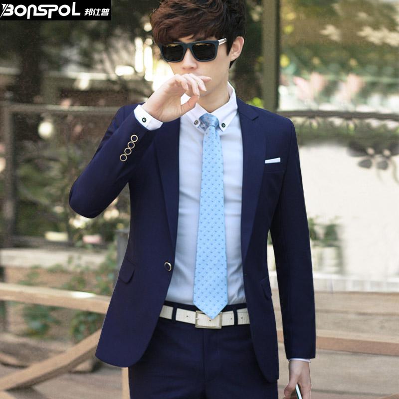 Осень костюм мужской корейской версии тонкий костюм куртка мужчин костюм невесты свадебное платье мужчины