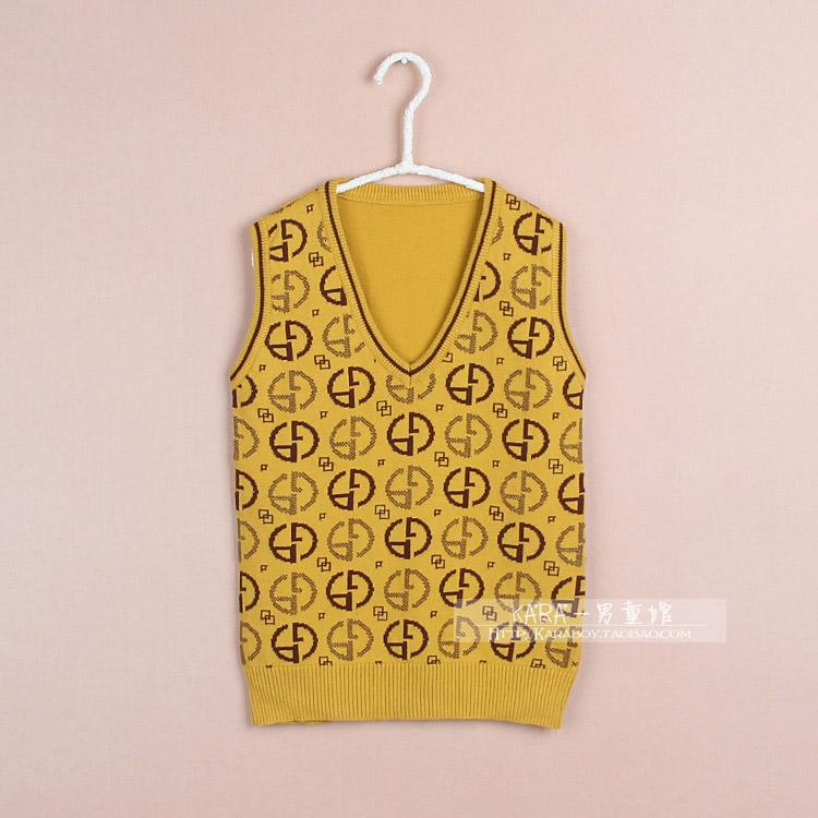 Весна и Осень Специальное предложение Распродажа детей свитер мальчиков диких детей корейской версии чистого хлопка вязать жилет тонкий жилет