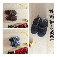 Europe and the United States of big shop sign Genuine * Kids chun xia toddler boys antiskid suspension soft bottom shoes baotou breathable baby shoes