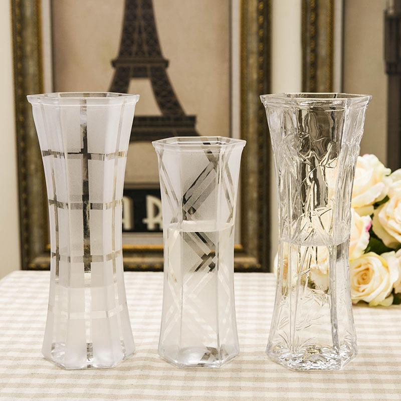 Континентальный этаж стекло ваза большой прозрачный лили богатство бамбук цветочная композиция бутылки воды поезд позволять устройство гостиная декоративный украшение