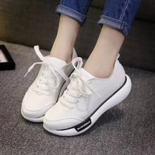 Large base of new fund of 2015 autumn with single female leisure shoe sponge at the end of summer shoes round head shake shoes for women's shoes