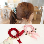 Know Richie jewelry rings made by the Korean version of the hand-woven fabric tiara sweet Pearl twist multi-element head rope