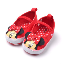 Elastic children female foreign trade new girls toddler antiskid shoes red dot cotton velvet pink short boots shoes