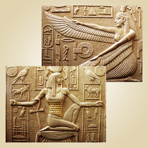 Artificial sandstone relief Background wall sandstone relief mural three-dimensional sand sculpture mural Hotel Queen of Egypt
