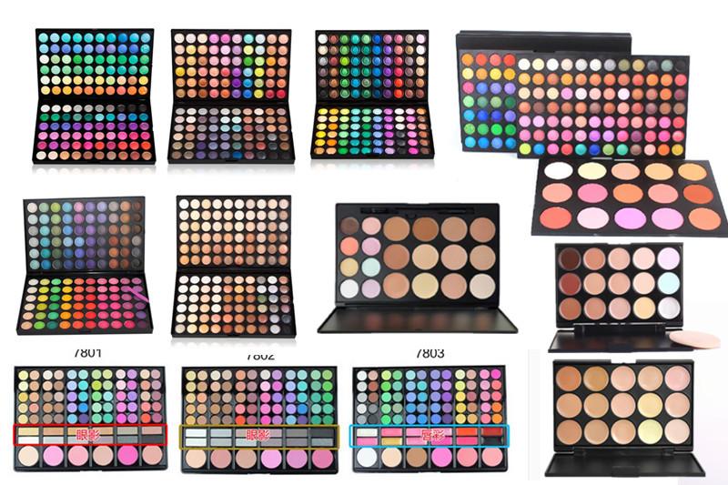 120 цветов 183/78/88 цвета теней для век румяна бровей порошок 20-объем 15 цвет маскирующее крем ремонт 6-цветная потенциала для почты