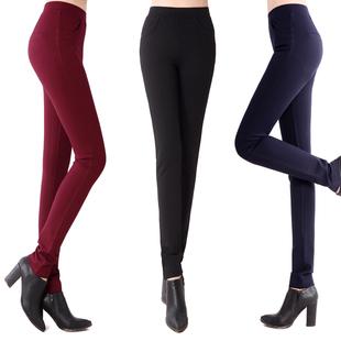 2 015 Зимний новой корейской версии 4D упругие талии леггинсы женские ноги карандаш брюки случайных брюки брюки большой ярдов