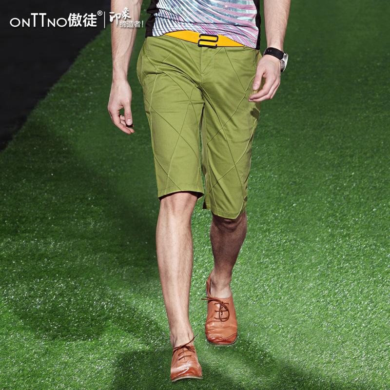 AO-летние мужские брюки тонкий случайные брюки в 2015 году и 5 минут растянуть корейских молодых мужчин и пять брюки в летние Тайд