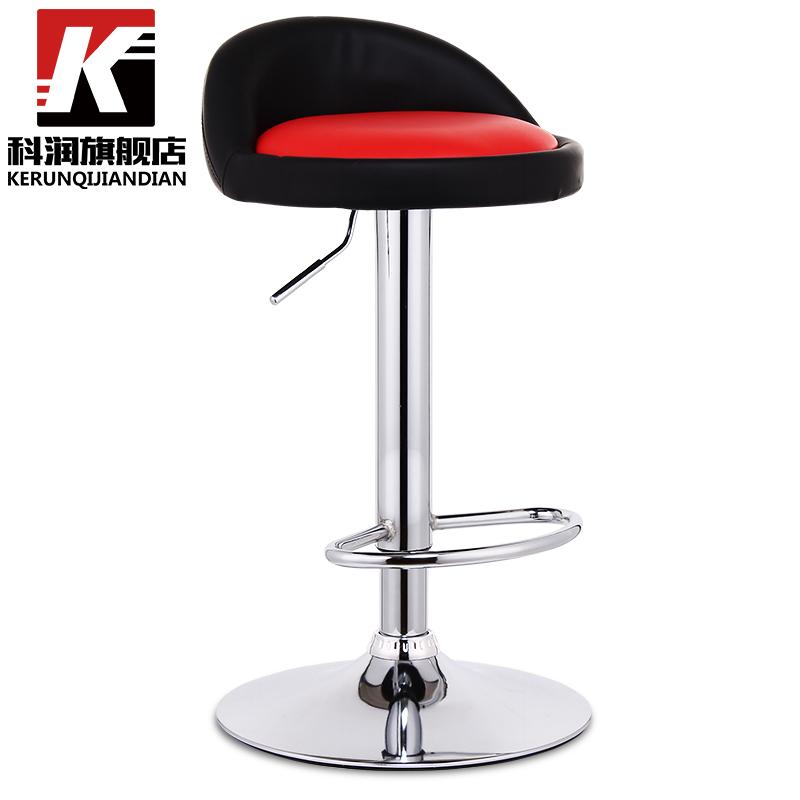 科潤吧台椅高腳靠背酒吧凳子手機店高凳椅子歐式吧凳家用升降吧椅
